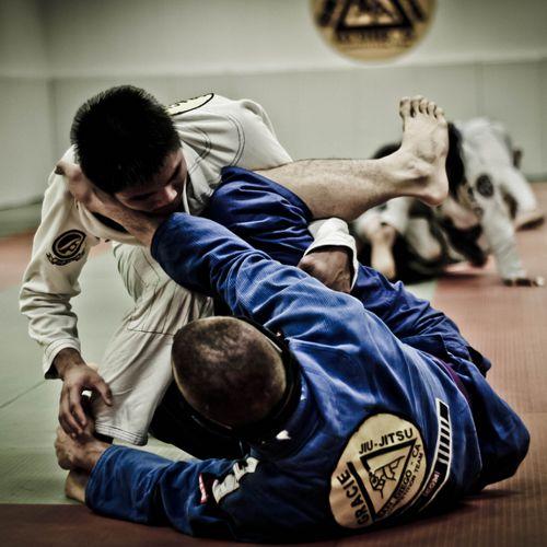 two men in a jiu-jitsu match